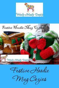 Festive Hoodie Mug Cozies Pattern