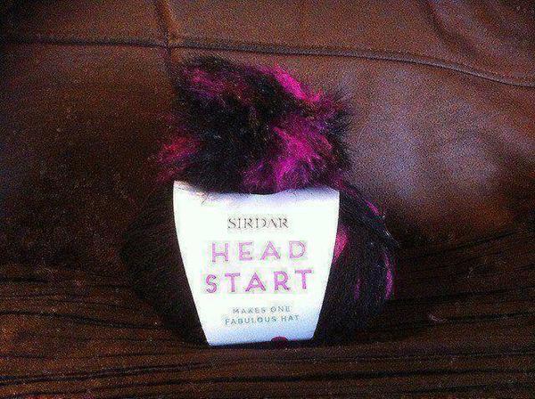 Sirdar Heads Up Hat Kit inc Yarn, Pompom and Pattern - Pink Dash 1