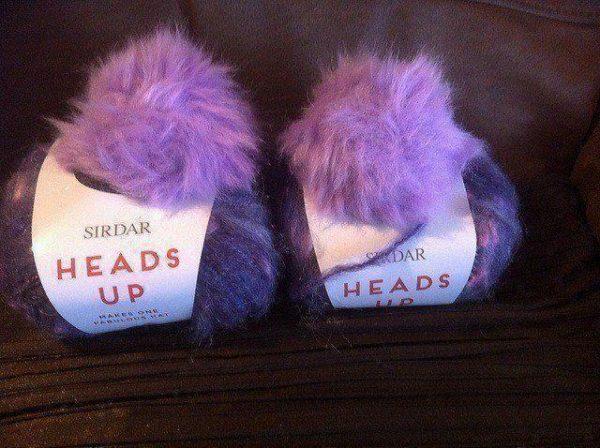 Sirdar Heads Up Hat Kit inc Yarn Pompom and Pattern Purple