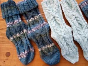 wheatsheaf aran socks
