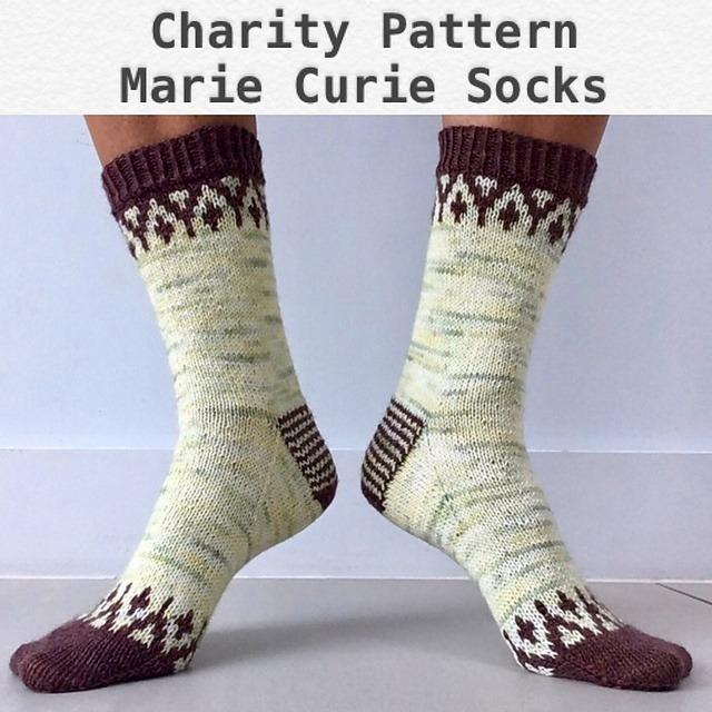 Marie Curie Socks by Sophie McKane