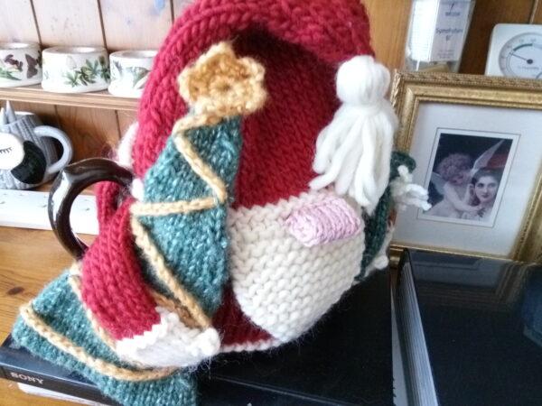 Gleeful Santa Tea Cozies 3 sizes Pattern 2020 1