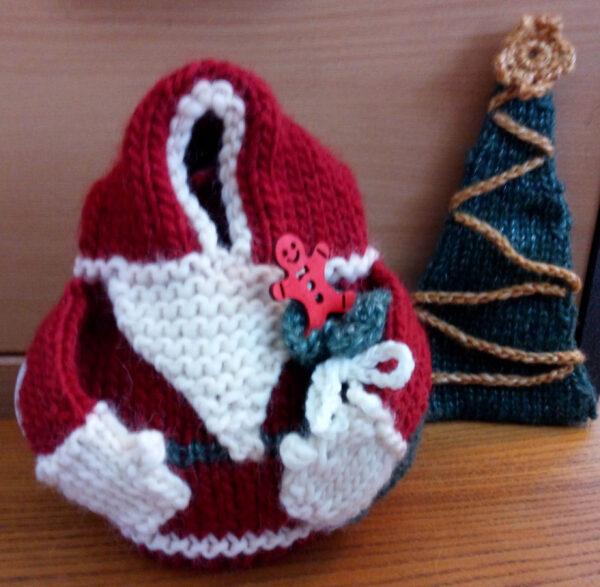 Gleeful Santa Tea Cozies 3 sizes Pattern 2020 3