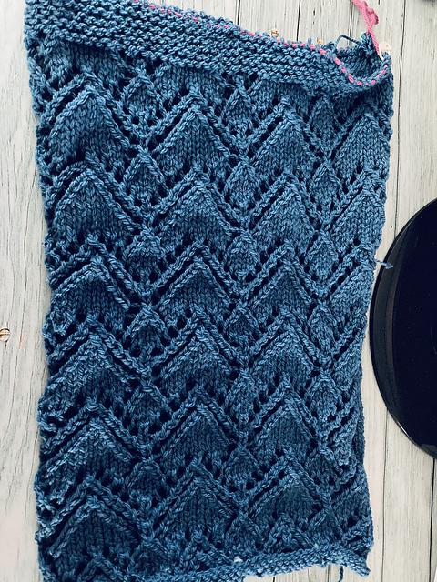 "Gardnered Cardigan test knit for Alicia Plummer, size 41""."