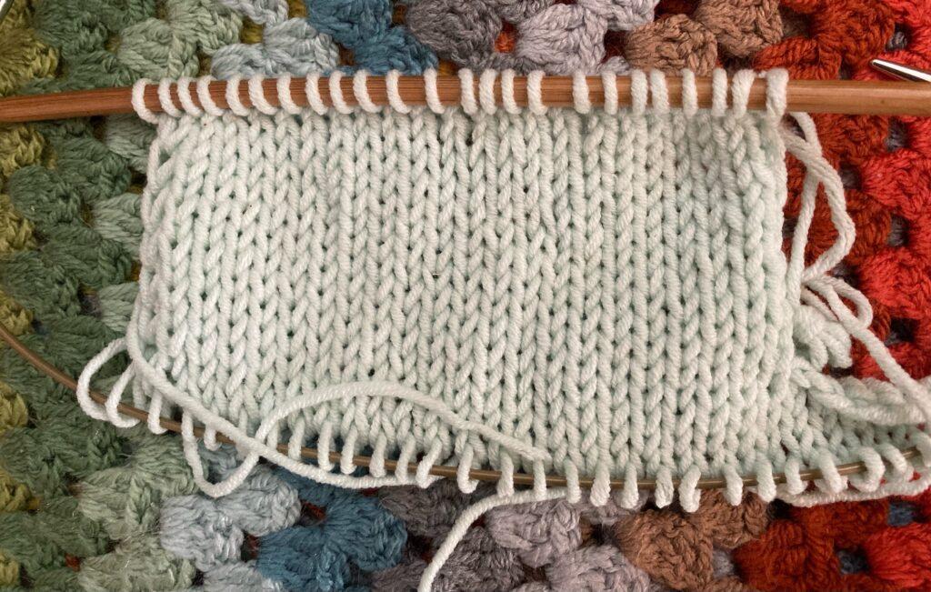 Top down, simultaneous set-in sleeve method 3
